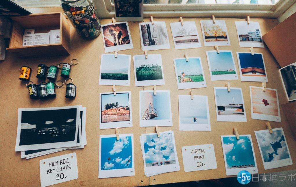 クリップした旅行の写真を写真に並べている