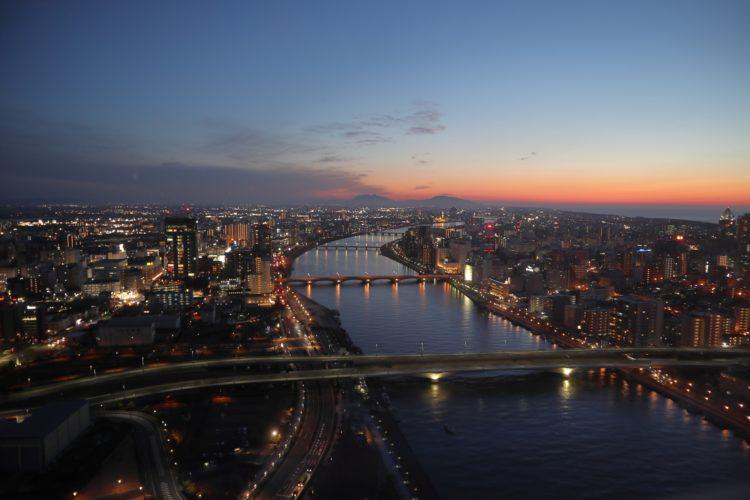 新潟県の夜景