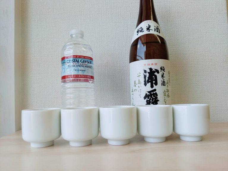日本酒の水割り純米酒と純米大吟醸で黄金比を試してみました!