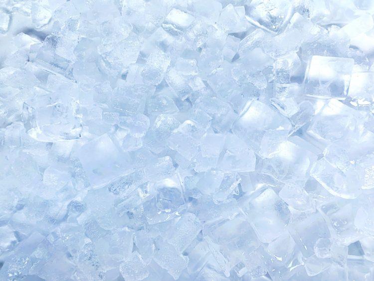 氷 凍った背景 冷凍庫