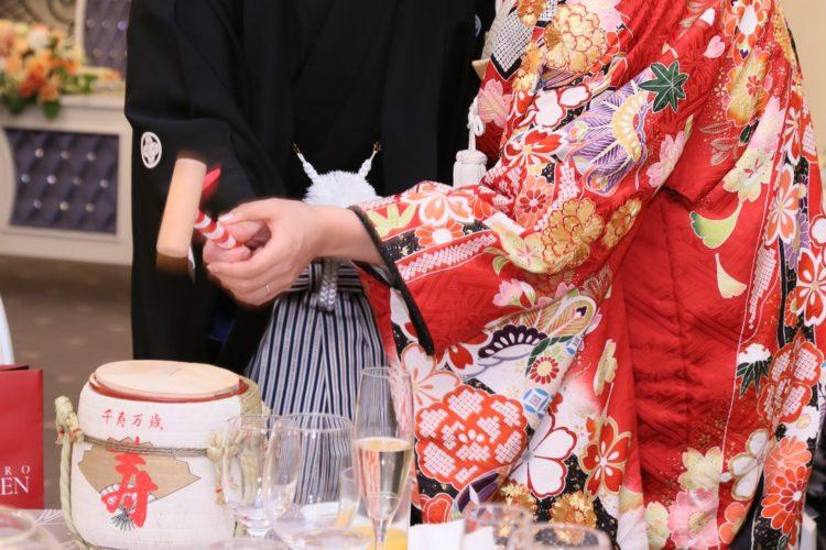 結婚式 披露宴 鏡開き 日本酒