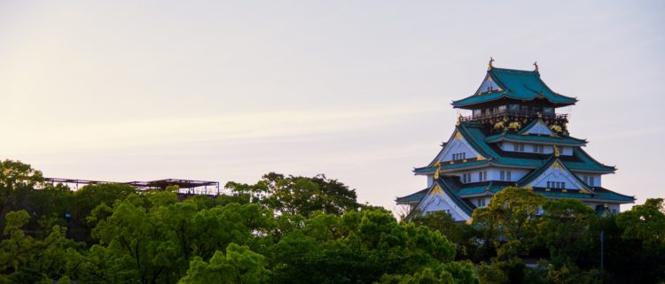 大阪城 大阪の空