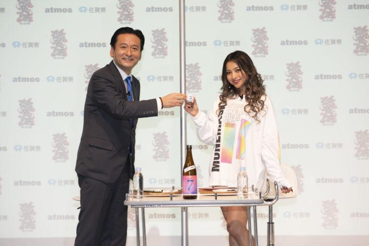 ゆきぽよさんがイベント中に日本酒でほろ酔いトーク⁈お酒が飲める男性がタイプ「結婚したら一緒に晩酌したい!」-佐賀県×atmos『SAGA SAKE COLLECTION』発売記念イベントレポート-