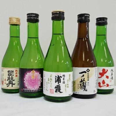 純米酒の飲み比べ《浦霞/春鹿/一ノ蔵/司牡丹/大山》300ml 5本セット