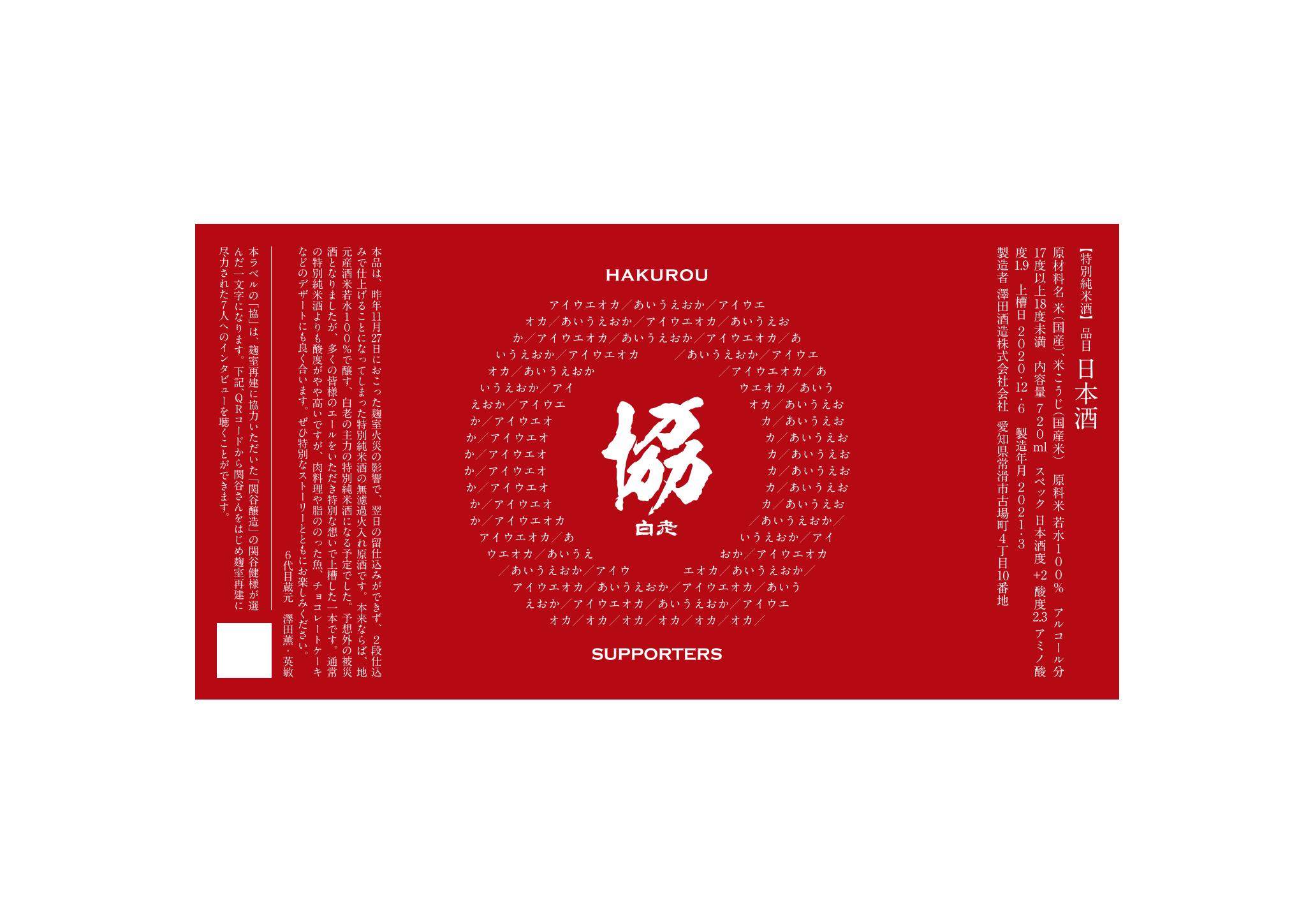 澤田酒造 、昨年の火災のために『二段仕込み』となった 特別純米酒 無濾過火入れ原酒に サポーターの名前がラベルに入る七色応援ラベル瓶を 期間・本数限定で予約受付