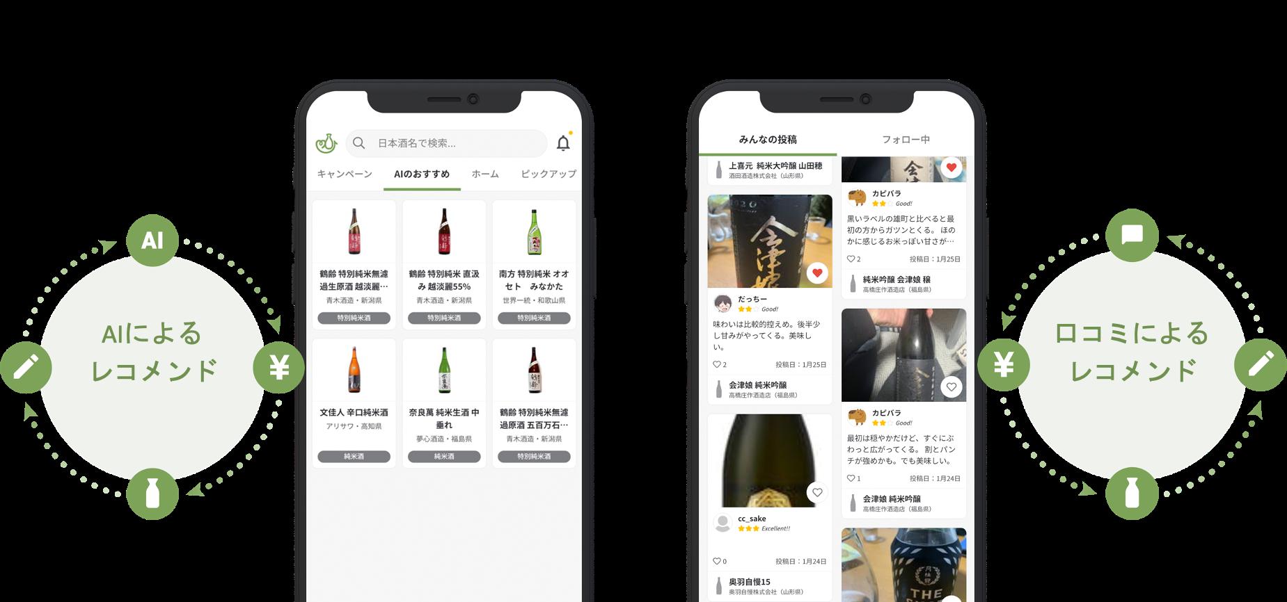 良質な口コミが揃う日本酒記録購入アプリ「サケアイ」への乗り換えキャンペーンを期間限定で開始