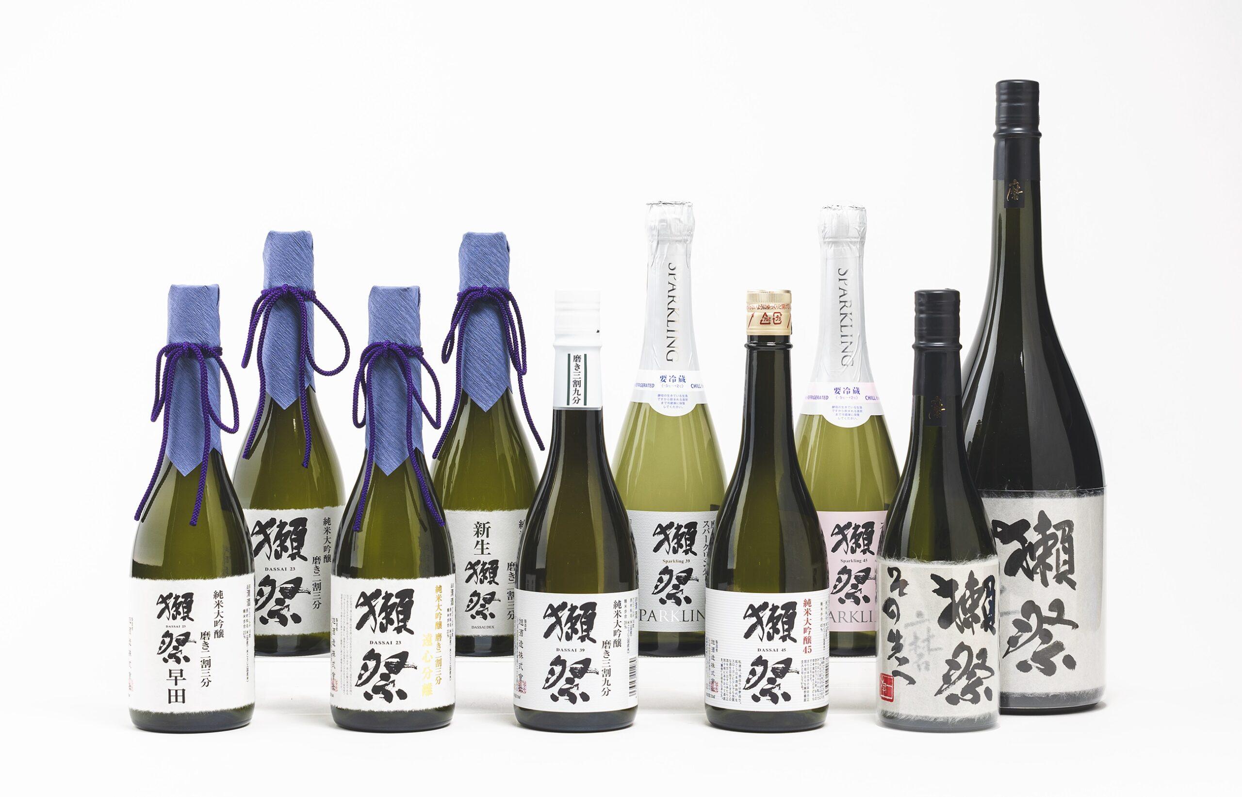 評価用社内テイスティングで用いる「獺祭」生原酒10種をシンワオークションに出品