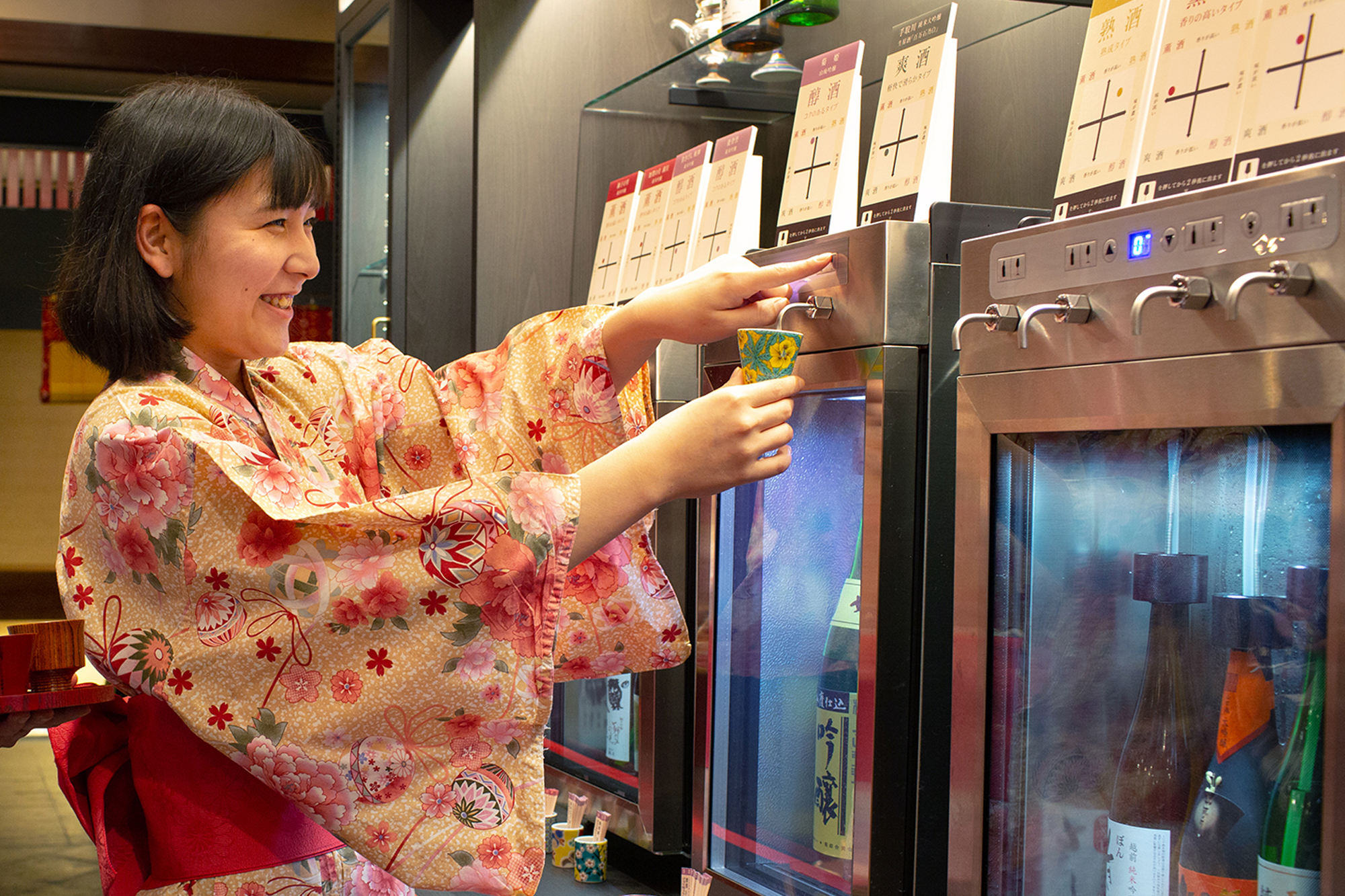 【石川県 山中温泉・吉祥やまなか】~北陸の地酒が勢揃い~ SAKE BAR「べに蔵」オープン!酒器を選んで、好みを巡り味わい愉しむ