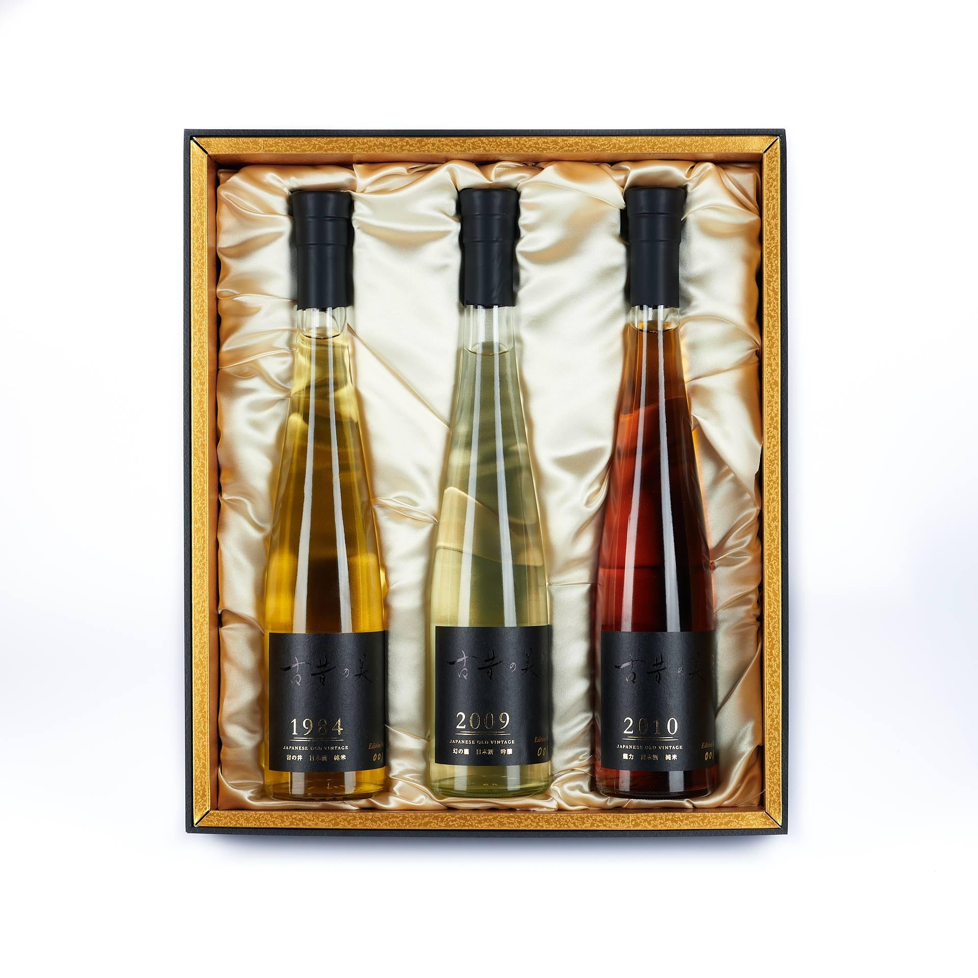 長期熟成古酒のプレミアムブランド 「古昔の美酒」 「フェミナリーズ世界ワインコンクール2021 日本酒熟成部門」にて金賞 受賞3銘柄のギフトセット『古昔の美酒 GOLD』6月6日販売開始