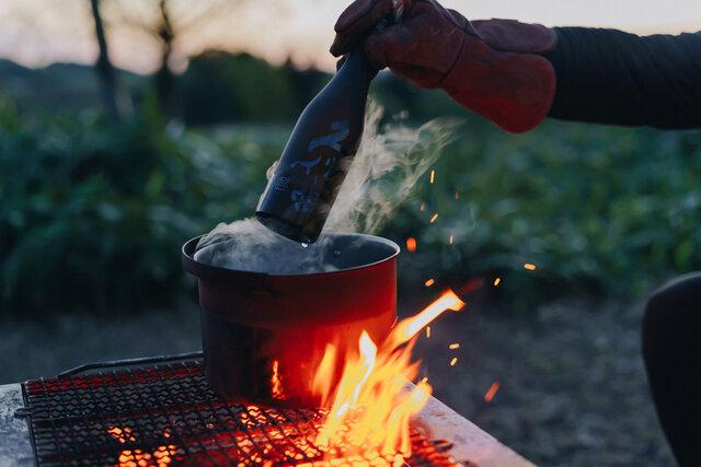 【KUBOTAYA】焚火と野生の酒「久保田 雪峰」。