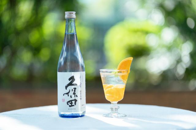 みかん缶×「久保田 千寿 純米吟醸」のカクテル