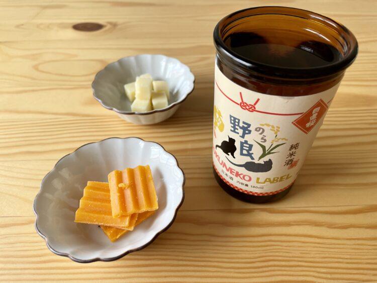 日本酒とミモレット